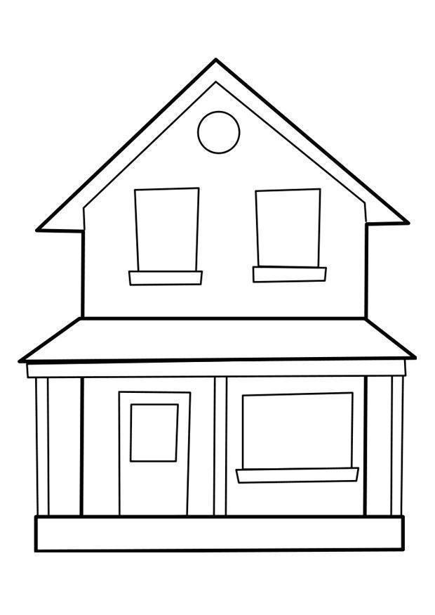 Dibujo De Una Casa Grande Para Colorear House Colouring Pages Family Coloring Pages House Colouring Pictures