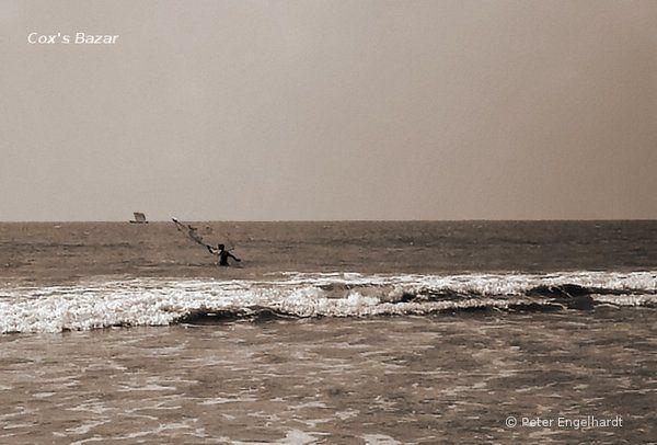 Strandfischer in Bangladesch