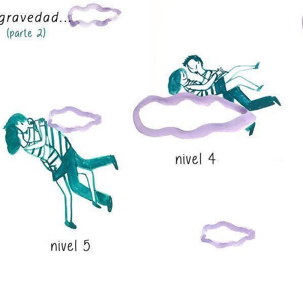 Cuestión de anti gravedad (parte2)  #100dayproject 38/100 #100daysofmotivationforillustration #drawing #couple #gravity #drawing #picsart #illustration #instart #clouds #historieta #comic #ilustracion #gouache #illustrationoftheday