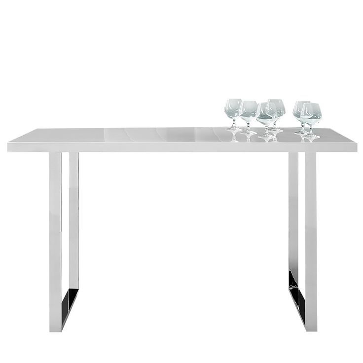 Mesa de comedor Monaco en acero cromado y tablero de MDF | 201.60€