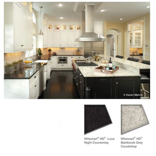 NOTE:  this is** Laminate*** on the counters:  Wilsonart_HD_countertops_Bainbrook_Gray_Luna_Black