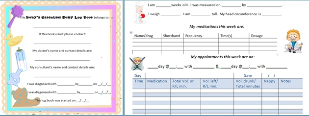 Baby's Essential Daily Log Book has space to record 56 days of essential information about your baby http://www.babyeureka.com