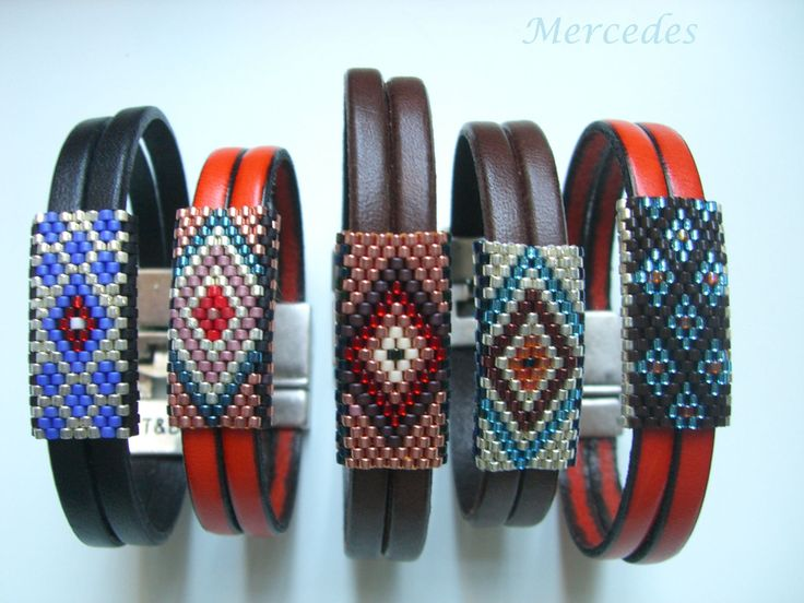 Miyuki & leather bracelets