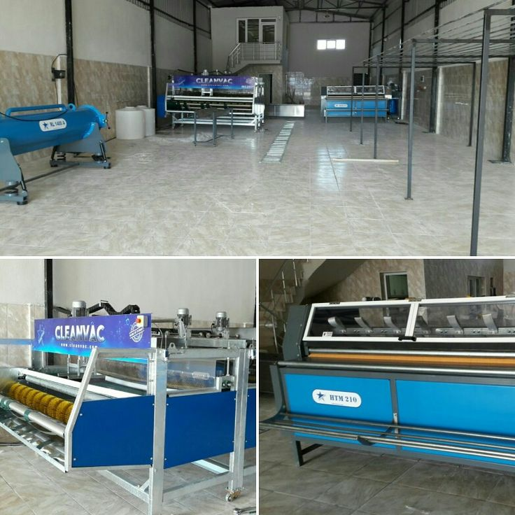 Full model carpet washing machine, carpet dust cleaning and carpet spin dryer...  Very clean carpet washing facility...