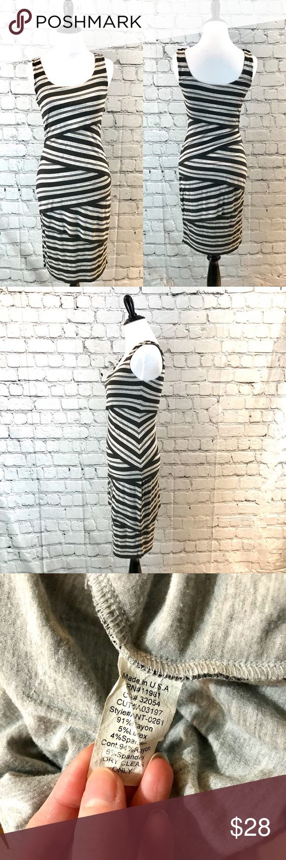 Bailey 44 black striped cocktail dress S Excellent condition Bailey 44 Dresses