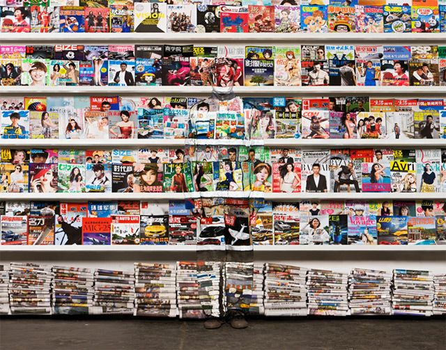 The Invisible Man: Artist Liu Bolin Hides in Plain Sight - done entirely by hand without the use of special effects