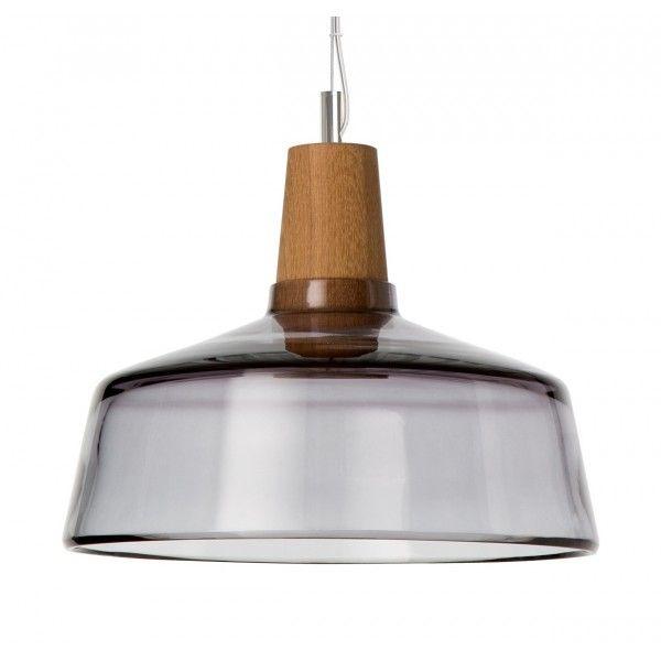Lampa INDUSTRIAL 26/14P z antracytowego szkła.