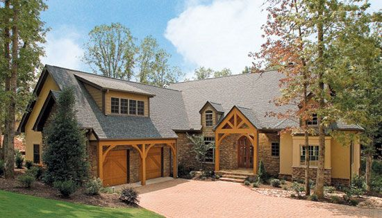 Plan Of The Week Over 2500 Sq Ft The Gilchrist Plan 734 D This Hillside Walkout Plan Has A