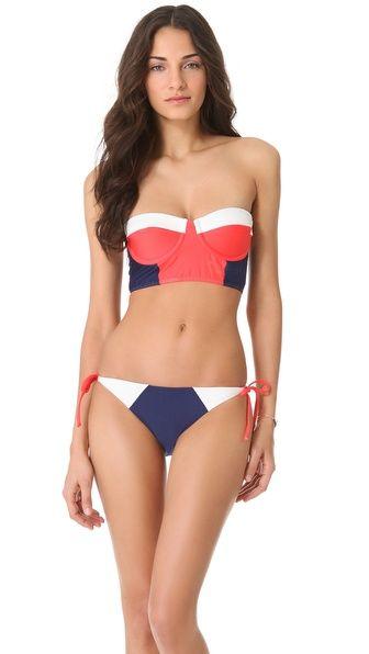quiero este tb :(:(:((    Splendid Sunblock Bustier Bikini Top