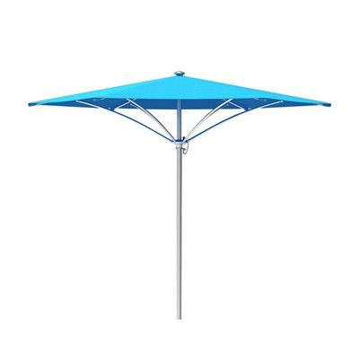 Tropitone Trace 8' Market Umbrella Fabric: Sparkling Water, Frame Finish: Parchment