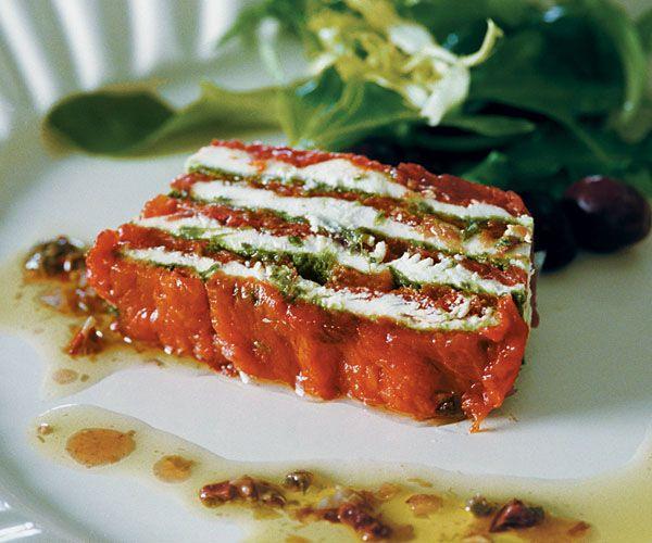 Tomato Confit, Basil & Goat Cheese Terrine Recipe