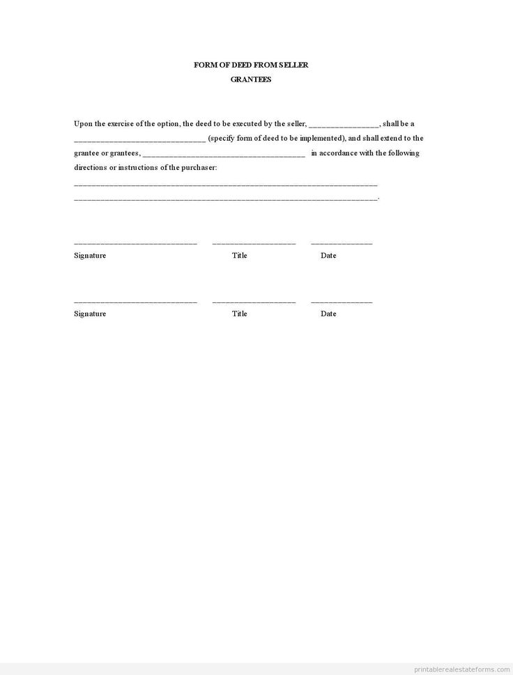 free printable contract for deed – Free Printable Contract for Deed
