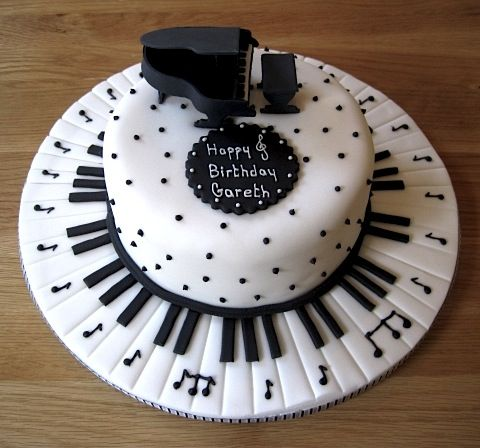 Piano keyboard cake stuff_to_bake Pinterest Keyboard ...