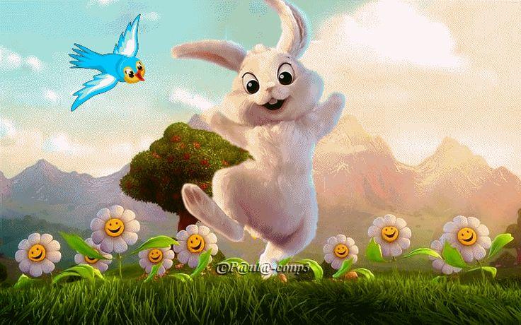 Joy of Spring. Happy bunny
