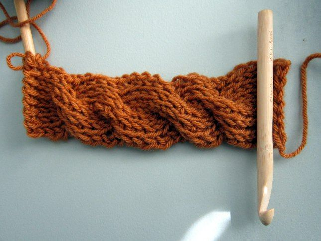 tunisian crochet cables | cable2