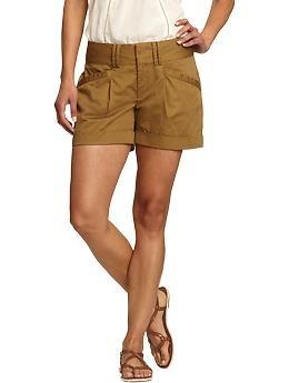 "Women's Pleated Sateen Shorts (5"") | Old Navy $29.94: Fashion Beautiful, Style, Women Shorts, Woman Pleated, Woman Shorts, Rain Shorts, Products"
