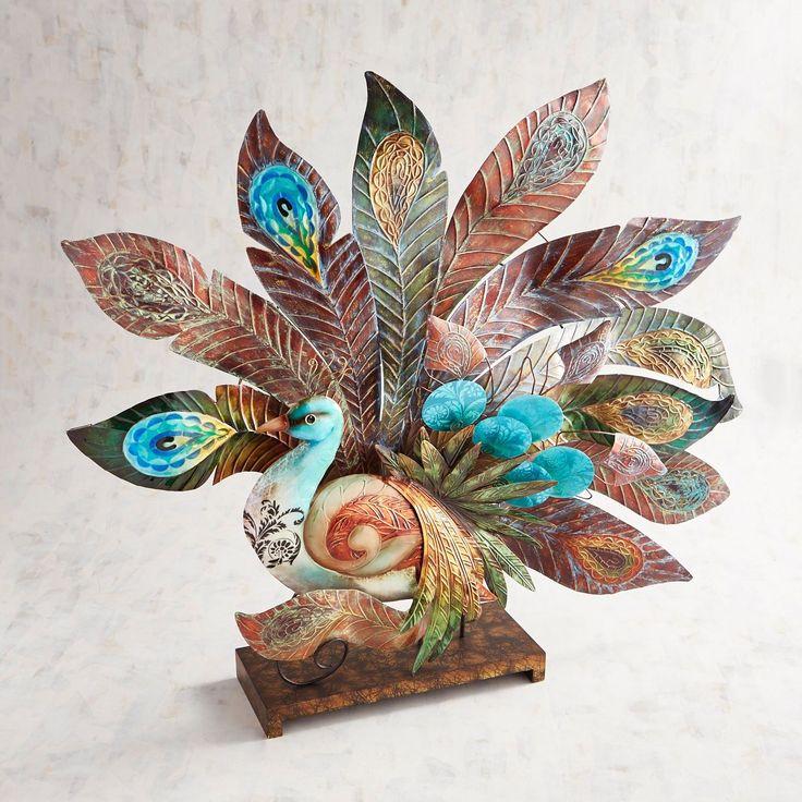 Metal capiz enchanted peacock pier 1 imports peacock