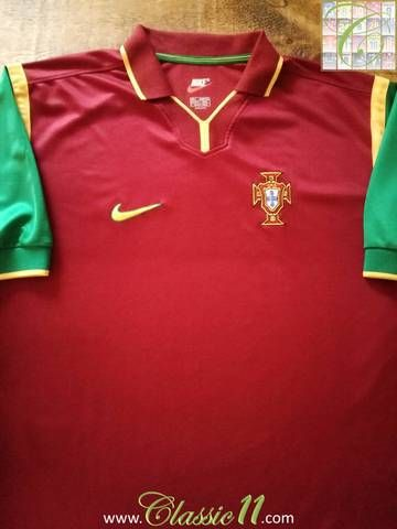 Official Nike Portugal home football shirt from the 1998/99 international season.