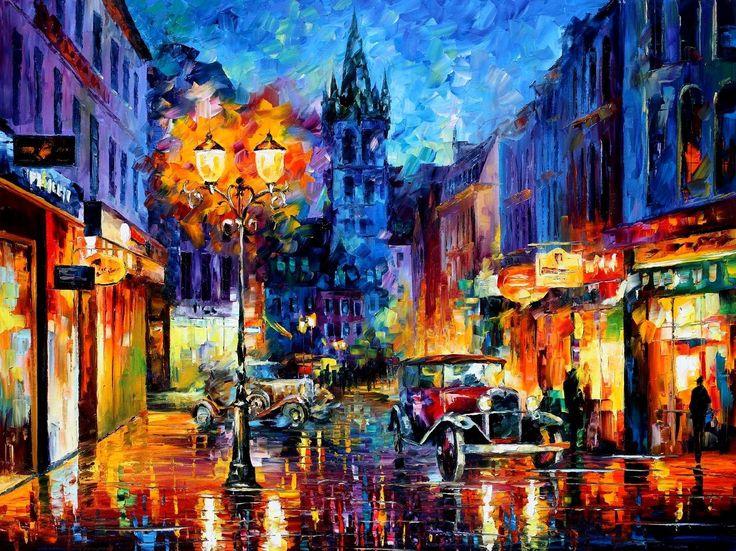 leonid afremov, city painting