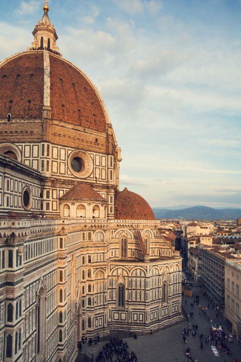 No trip to Florence is complete without admiring the iconic red dome of the Duomo. Get one of the best views in town from the rooftop terrace at the JK Place Firenze hotel.