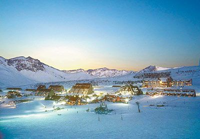 Las Leñas centro de Ski, Mendoza