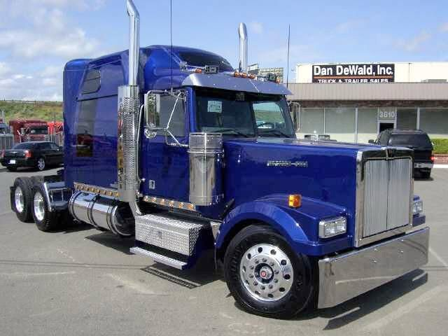 western star trucks | Front right blue 2007 Western Star 4900EX Truck Picture