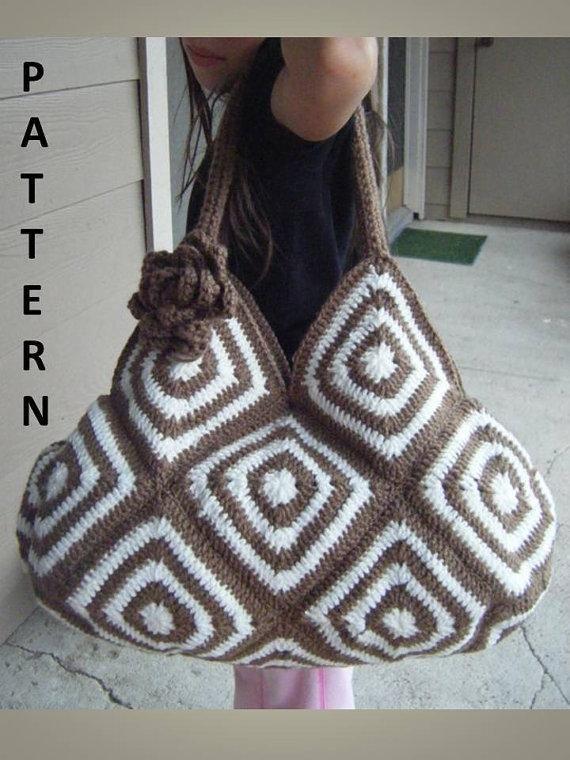 Crochet+Tote+Bag+Instructions   Crocheting: Crochet Bicolor Tote Bag Crochet Pattern