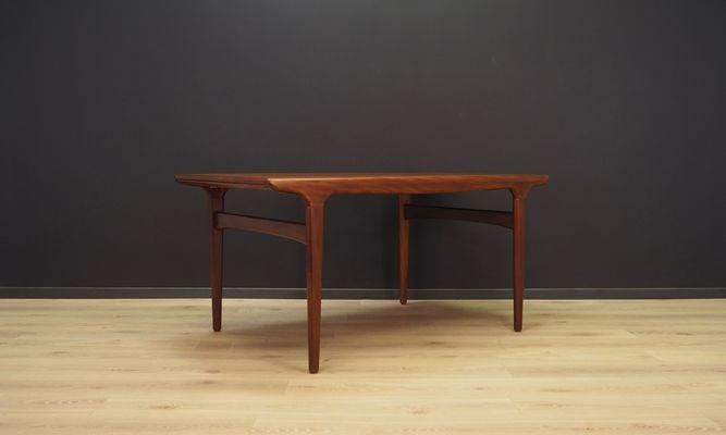 Mid Century Danish Teak Extendable Dining Table By Johannes