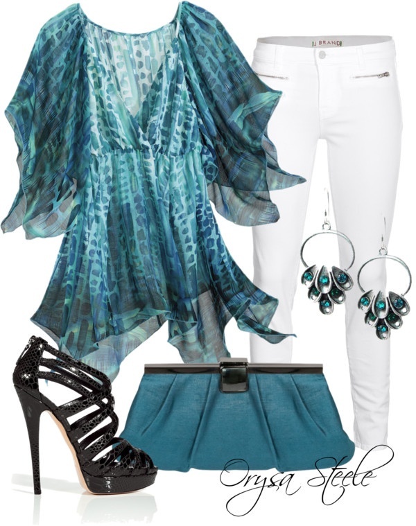 """Aquamarine"" by orysa on Polyvore"