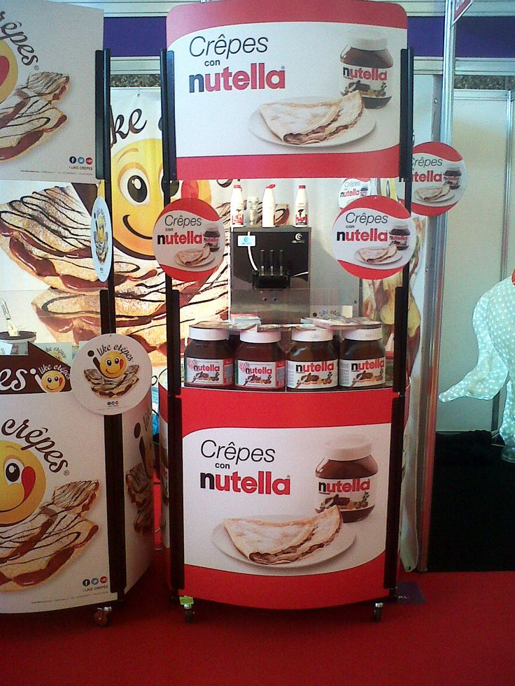 Nutella crepe concept with a Gel Matic machine on the occasion of Euro Attraction Show 2014, held in Amsterdam.