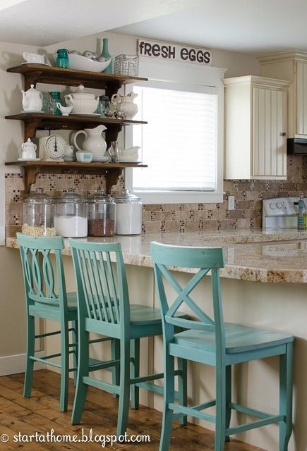 Start At Home Decor: Charming Home Tour. Turquoise Kitchen ...