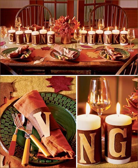 Felt thanksgiving table or mantle decoration cheap and Cheap thanksgiving table setting ideas
