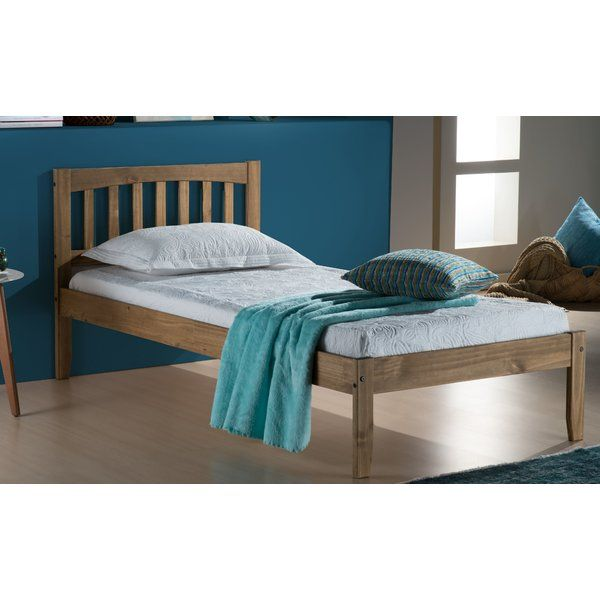 £119.99 A traditional pine bed frame that makes a simple addition to any bedroom setting, the Plymouth bed is waxed to give it that desirable rustic feel. This frame has a solid slatted base for firmer support, allowing air to circulate beneath the mattress.