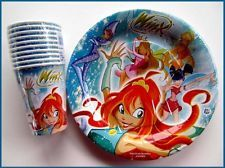 WINX Club Fairies Doll BIRTHDAY PARTY 10 PLATES 10 CUPS
