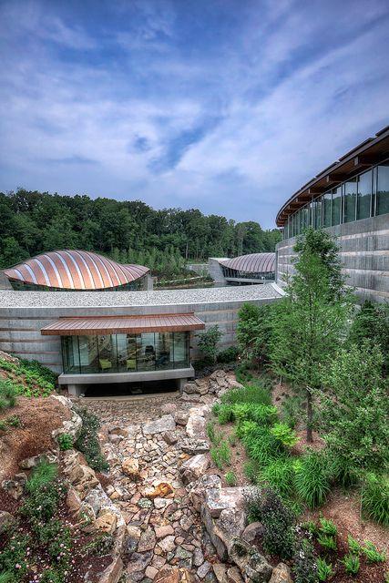 Crystal Bridges by IPBrian, via Flickr - Crystal Bridges Museum of American Art, Bentonville, Arkansas.