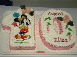 Risultati immagini per torta di compleanno numero 10