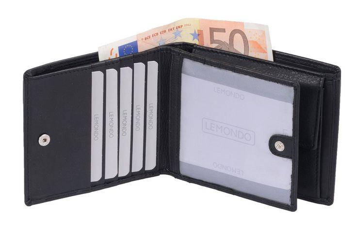Amazon.com: Avanco Men's Leather Wallet 4.9 x 4.1 inch Black: Clothing