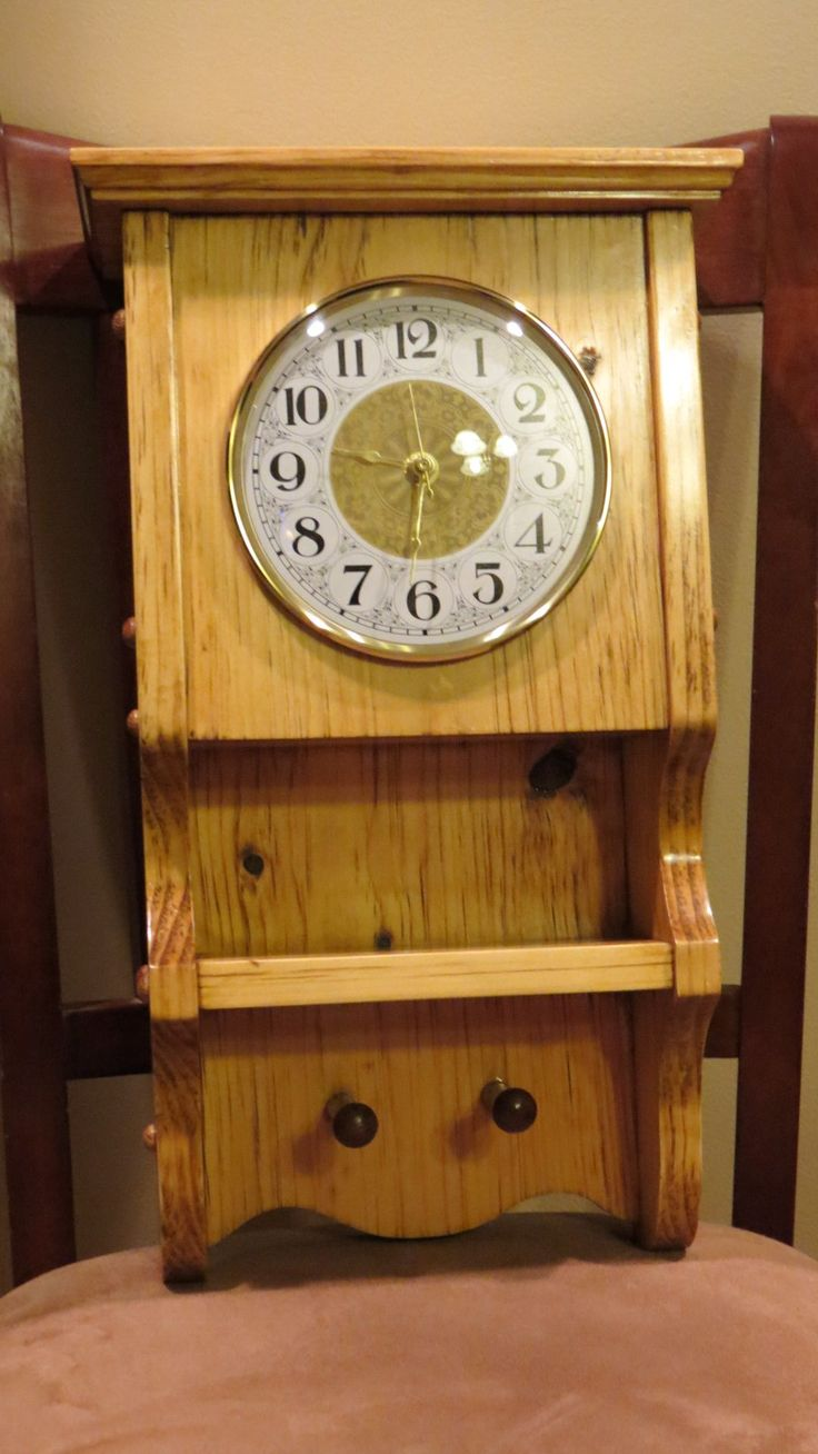 113 best clocks images on pinterest clock wooden clock and art custom made shaker style clock amipublicfo Gallery