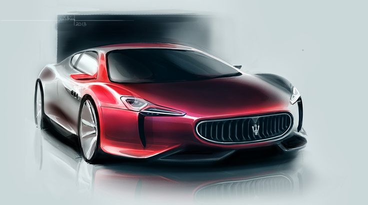 Maserati sketch by Mihir Laghate, India