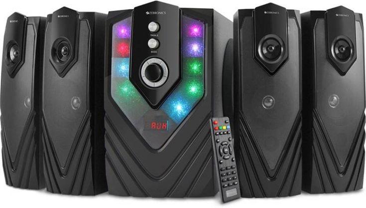 Zebronics ZEB - SAMBA Bluetooth Home Audio Speaker  (Black, 4.1 Channel)