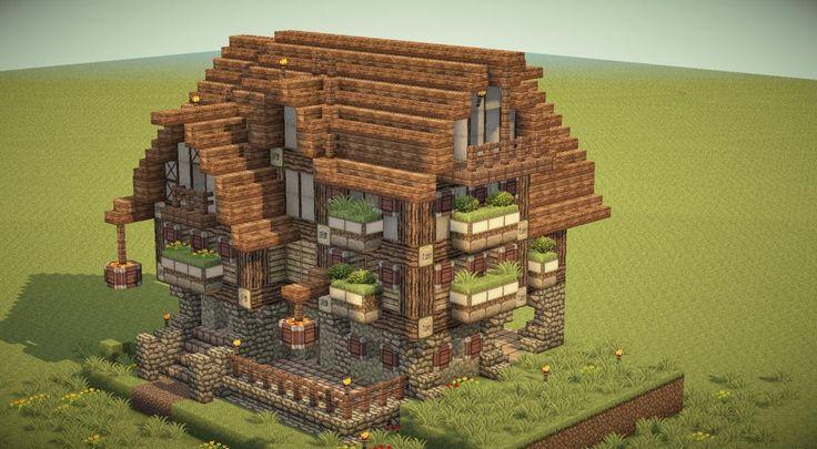 Minecraft medieval inn   NMB -Blue Flower INN