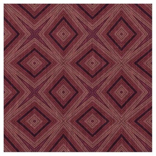 Modern geometric pattern marsala and pink natural linen fabric #fabric #linen #tmarsala #pink #geometric