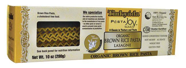 Organic Brown Rice Pasta Lasagne