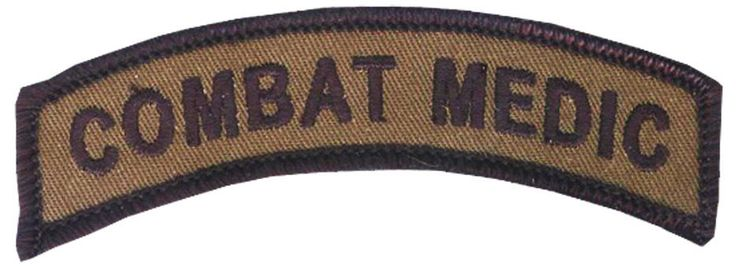 Combat Medic Embroidered Tab / Special Operations Combat Medic / Navy Corpsman