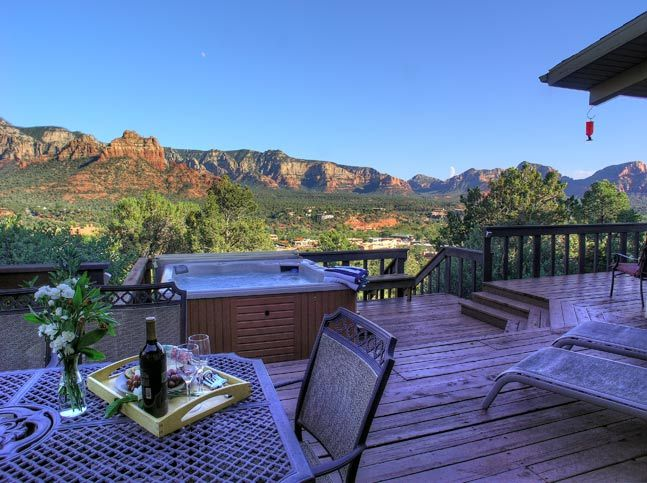 18 best red rock views images on pinterest sedona for Az cabin rentals with hot tub
