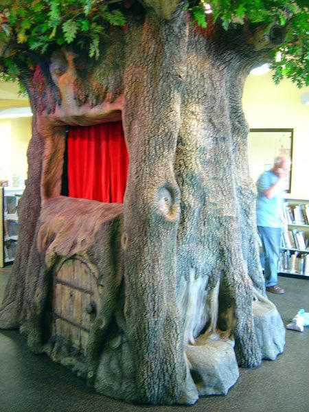 Library puppet theater tree