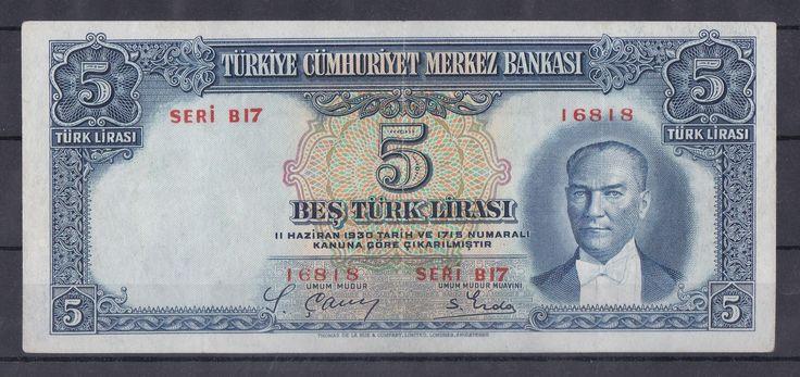 2.EMİSYON 5 LİRA,SERİ B17 16818,-- 500 TL