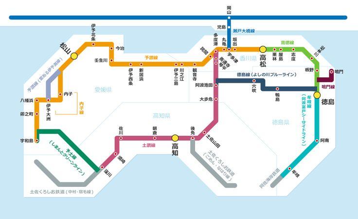 四國JR路線圖