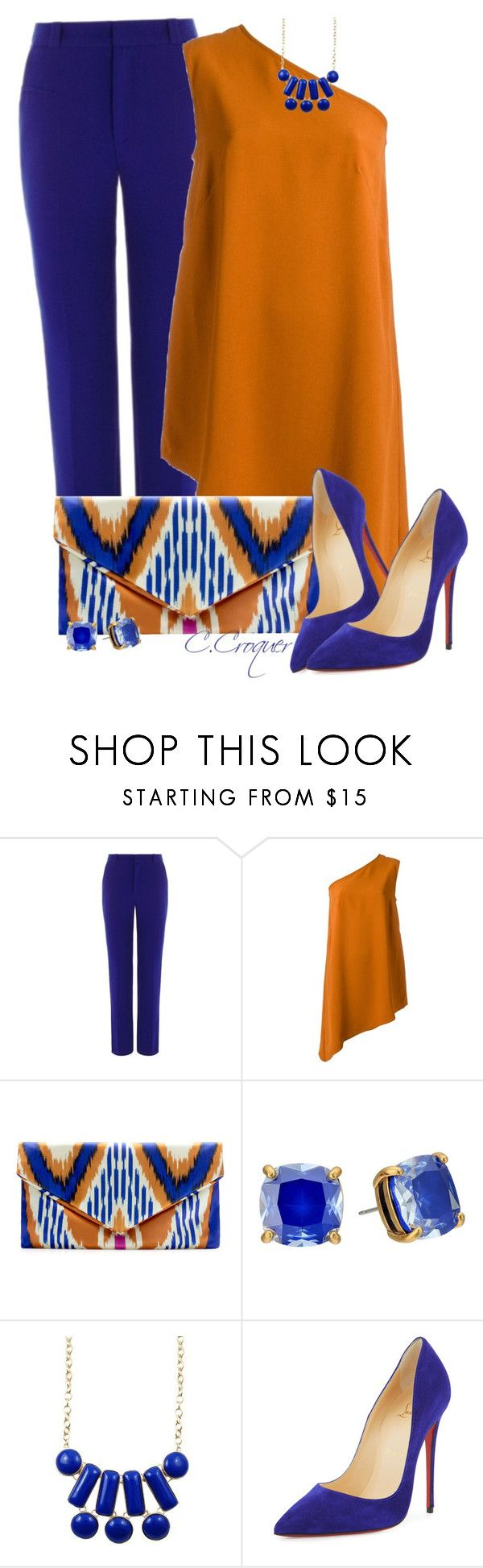 """Royal Blue For Spring"" by ccroquer ❤ liked on Polyvore featuring Roland Mouret, Andrea Marques, Zara, Kate Spade and Christian Louboutin"