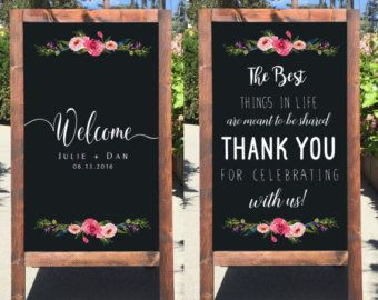 Rustic Wedding Sign Welcome Wedding by heartandhandshop on Etsy